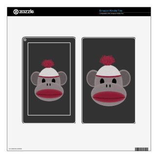 Sock Monkey Decal For Kindle Fire
