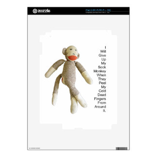 Sock Monkey Decal For The iPad 2