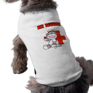 Sock Monkey ER Nurse T-shirts and Gifts Dog Tshirt