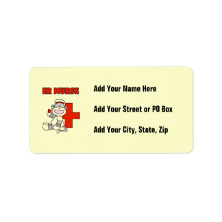 Sock Monkey ER Nurse T-shirts and Gifts Label