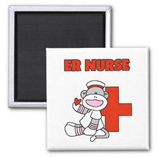 Sock Monkey ER Nurse T-shirts and Gifts Refrigerator Magnet