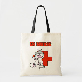 Sock Monkey ER Nurse T-shirts and Gifts Tote Bag