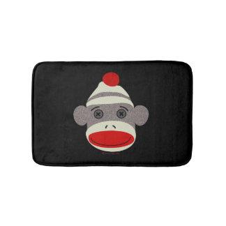 Sock Monkey Face Bath Mat