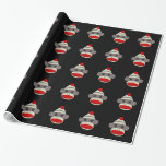 Sock Monkey Face Gift Wrapping Paper