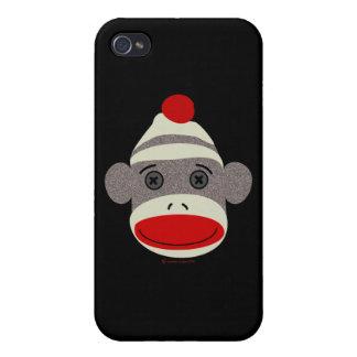 Sock Monkey Face iPhone 4 Case