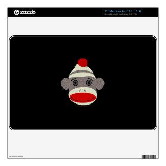 Sock Monkey Face MacBook Skin