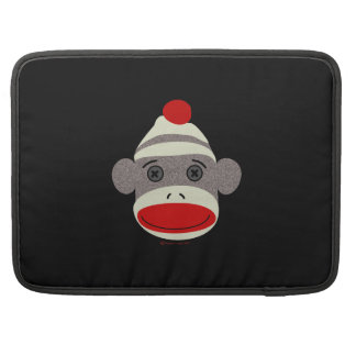 Sock Monkey Face Sleeves For MacBook Pro