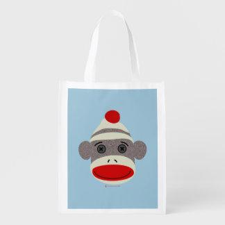 Sock Monkey Face Market Tote