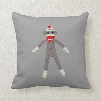 Sock Monkey Face Pillow