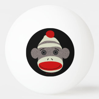 Sock Monkey Face Ping Pong Ball