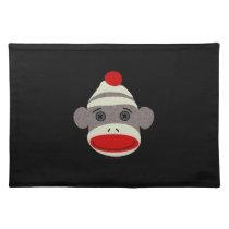 Sock Monkey Face Placemat