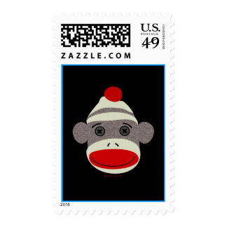 Sock Monkey Face Postage Stamp
