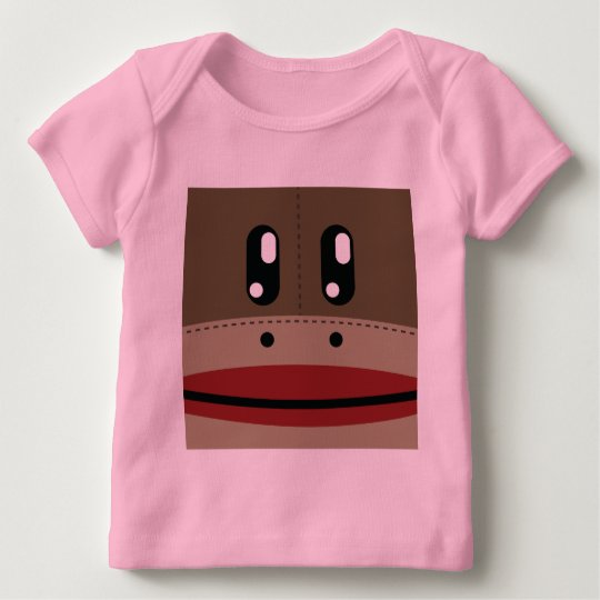 Sock Monkey Face Products Baby T-Shirt