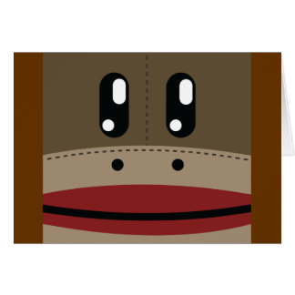Sock Monkey Face Products Card