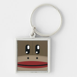 Sock Monkey Face Products Keychain