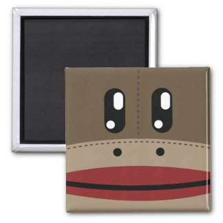 Sock Monkey Face Products Magnet