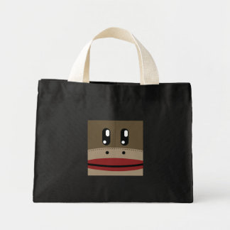 Sock Monkey Face Products Mini Tote Bag