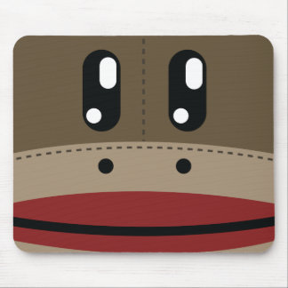 Sock Monkey Face Products Mouse Pad