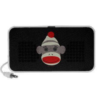 Sock Monkey Face Notebook Speaker