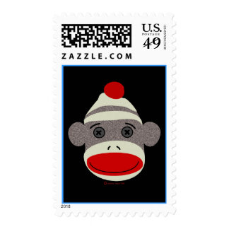Sock Monkey Face Stamp