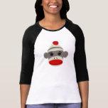 Sock Monkey Face T Shirt