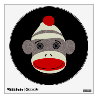 Sock Monkey Face Wall Graphic