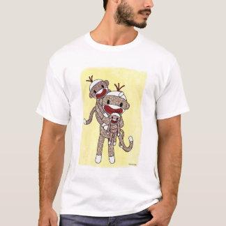 Sock Monkey Family 02 Kids Shirt