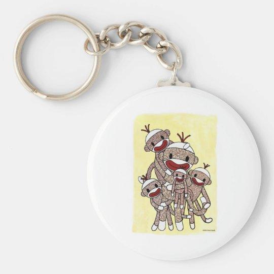 Sock Monkey Family 04 Keychain