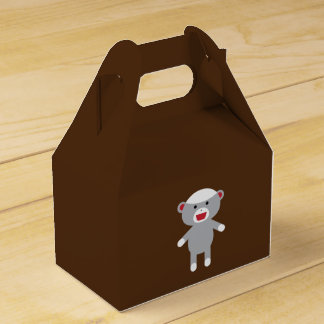 Sock Monkey Favor Box