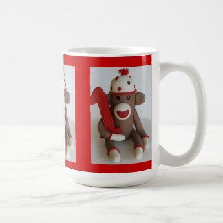 Sock Monkey First Birthday Commemorative Mug