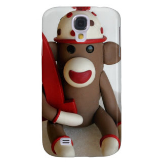 Sock Monkey First Birthday Samsung Galaxy S4 Cover