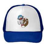 Sock Monkey Football T shirts and Gifts Trucker Hat