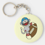 Sock Monkey Football T shirts and Gifts Key Chains