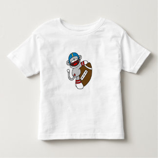 Sock Monkey Football Toddler T-shirt