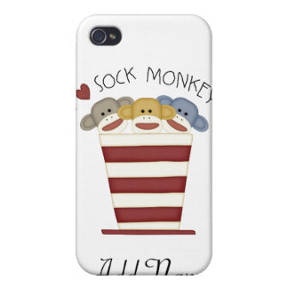 SOCK MONKEY for 4/4S Cover For iPhone 4