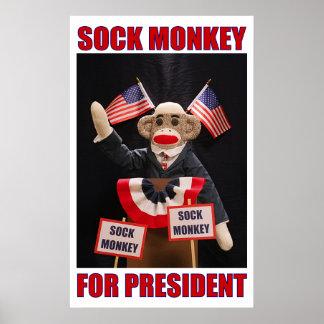 Sock Monkey for President Poster
