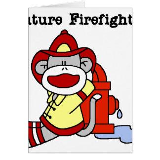 Sock Monkey Future Firefighter Card