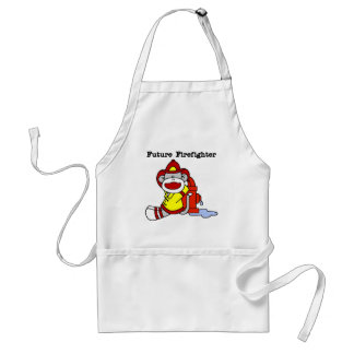 Sock Monkey Future Firefighter Tshirts and Gifts Adult Apron