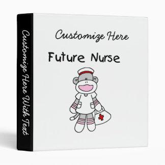 Sock  Monkey Future Nurse T-shirts and Gifts Binder