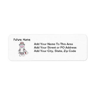 Sock  Monkey Future Nurse T-shirts and Gifts Label