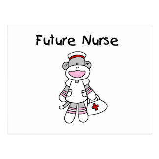 Sock  Monkey Future Nurse T-shirts and Gifts Postcard