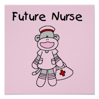 Sock  Monkey Future Nurse T-shirts and Gifts Poster