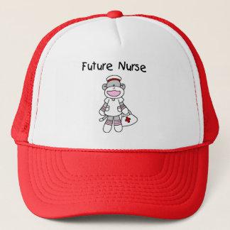Sock  Monkey Future Nurse T-shirts and Gifts Trucker Hat