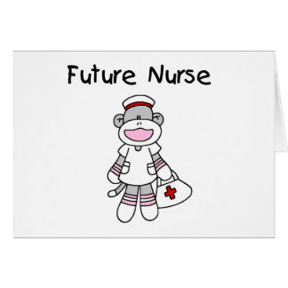 Sock Monkey Future Nurse Tshirts and Gifts Card