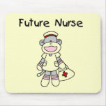 Sock Monkey Future Nurse Tshirts and Gifts Mousepads