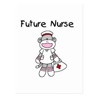 Sock Monkey Future Nurse Tshirts and Gifts Postcard