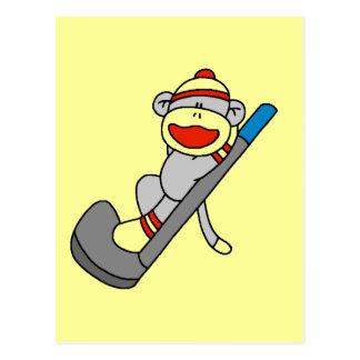 Sock Monkey Golf Tshirts and Gifts Postcard