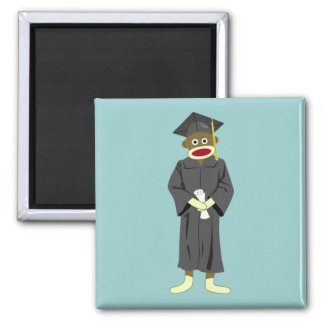Sock Monkey Graduation Magnet