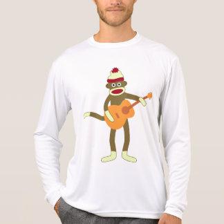 Sock Monkey Guitar Long Sleeve Micro-Fiber T-Shirt