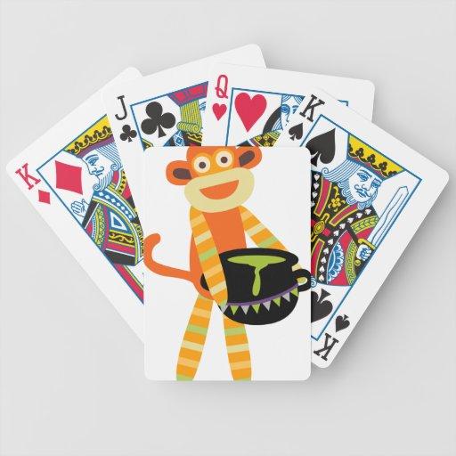 sock monkey halloween deck of cards